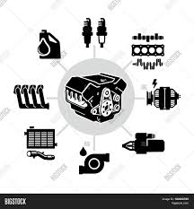 Engine Parts Design Car Engine Parts Vector Photo Free Trial Bigstock