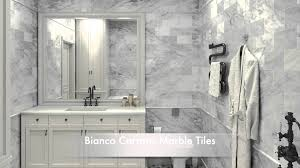 Bathroom Tile Ideas White Carrara Marble Tiles And Calacatta Gold - White marble bathroom