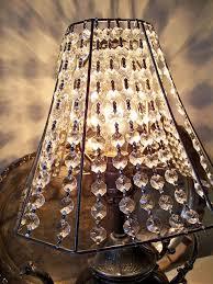 crystal lamp shade take fabric off old lampshade and string types of lamp shades