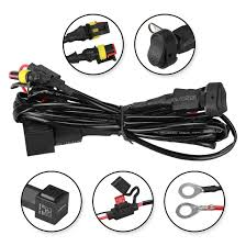 Fog Light Wiring Loom Complete Spot Light Fog Light Motorbike Motorcycle Wiring Loom Harness Kit With On Off Switch