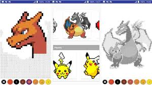 Color By Number Pokemon Pixel Art Android Gameplay Pokemon Color By