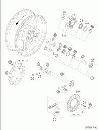 Rear wheel 950 2005