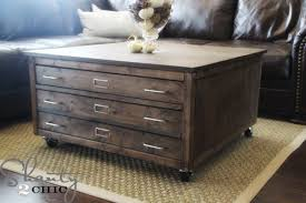 6 drawer library coffee table ana white