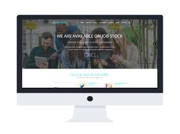 Free Website Templates Html Interesting ET Job Portal Free Responsive Job Portal Website Templates