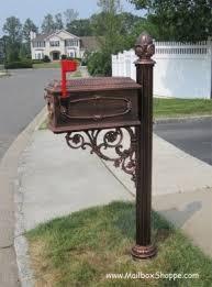aluminum mailbox post. Cast Aluminum Mailbox Post