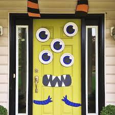 Diy multi eyed monster door for halloween