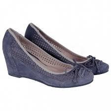 Темно-синие перфорированные <b>туфли Lady Doc</b> 4502 camoscio ...