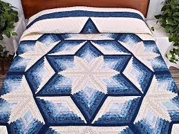 154 best Quilts Amish images on Pinterest | Amish quilts ... & offset log cabin quilt pattern | Diamond Star Log Cabin Quilt --  outstanding cleverly made Adamdwight.com