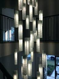 contemporary foyer lighting modern entry chandelier for high within amazing ceiling large f