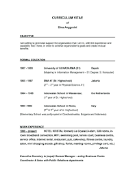 Resume Objective Examples Entry Level Customer Service resume It Resume Objective Examples 16