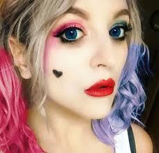 cute harley quinn makeup