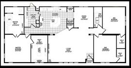 double wide floor plans 3 bedroom. Exellent Wide 2304 Square Feet PRT 3 Bedroom  In Double Wide Floor Plans M
