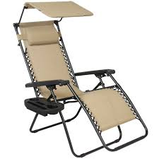 folding zero gravity recliner lounge chair w shade cup holder anti with side table costco sky2337