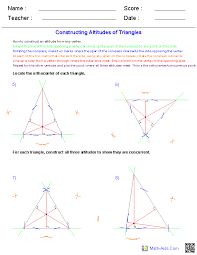 Geometry Worksheets | Geometry Worksheets for Practice and StudyConstructions Worksheets