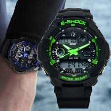 s shock mens military watch for men sport watch 2times zone s shock mens military watch for men sport watch 2times zone backlight quartz chronograph jelly