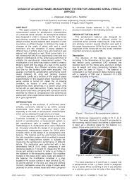 Wind Tunnel Balance Design Pdf Design Of An Aerodynamic Measurement System For