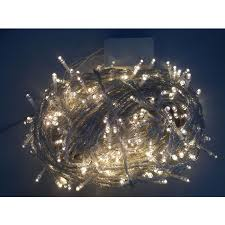 warm white led outdoor waterproof clear cable mains powered string lights