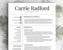 Resume Template | Professional Resume Template | CV Template for Word and  Pages | One,