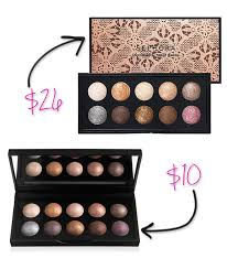 for a mere 10 you can get the baked eyeshadow palette in california from e l f studio and enjoy the same level of quality as well as the same colors