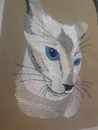 Eyes Embroidery Design Cat With Blue Eyes Free Embroidery Design Showcase With