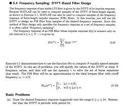 Frequency Sampling Method Fir Filter Design Frequency Sampling Dtft Based Filter Design Can S