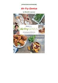 Meredith Laurence Air Fryer Cooking Chart Pdf Air Fry Genius Epub Meredith Laurence