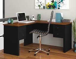 l shaped desk black tuscany brown