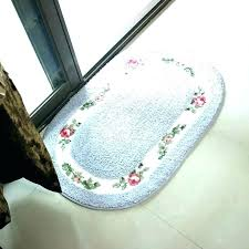 oval bath rugs large mats cotton reversible cotto