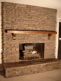 Decorations:Rock Fireplaces With Stone Wall Decorating Architecture Idea  Cool Rock Fireplace Mantel Decorating Ideas