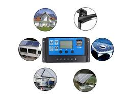 <b>12V 24V Auto</b> 20A <b>Solar Panel</b> Battery Charge Controller LCD Solar ...