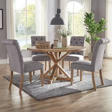 cheap tufted chair. Brilliant Chair HomeSullivan Huntington Grey Linen Button Tufted Dining Chair Set Of 2 To Cheap