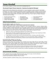 Resume Format For Finance Jobs Finance Resume Template Word Loan
