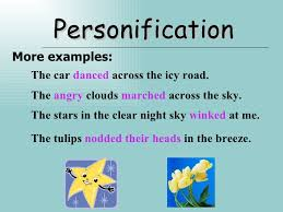 figure of speech personification more examples