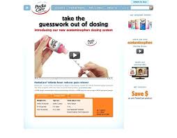 Pediacare Dosage Chart Care Dose For Infants And Children