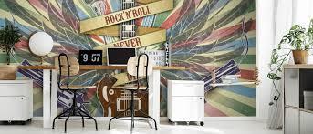 rock n roll wallpaper wallsauce uk