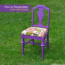 reupholstered chair seat upholster
