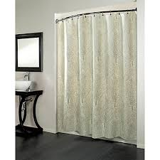 Forest 70 Inch x 72 Inch Fabric Metallic Print Shower Curtain