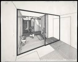 sliding glass doors drawing. Perfect Doors Sectional Perspective Through Sliding Glass Door With Doors Drawing R