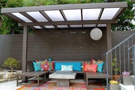 Chic pergola design with glass roof