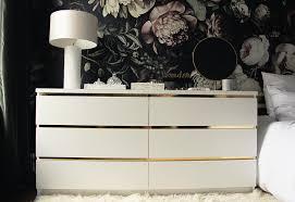 diy ikea hack dresser. Malm Vintage Style Gold Dresser Diy Ikea Hack