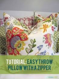 bench cushion tutorial see more diy easy throw pillow with a zipper tutorial great step by step
