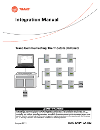 search remote starter user manuals manualsonline com  trane thermostat trane communicating thermostats (bacnet)