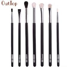 pretty outtop good quality makeup brushes blend shadow angled eyeliner smoked bloom eye brushes set gift