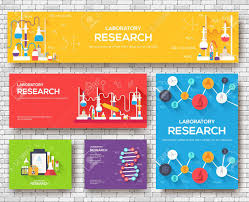 Informational Poster Sample Layout Science Information Cards Set Laboratory Template Of Flyer