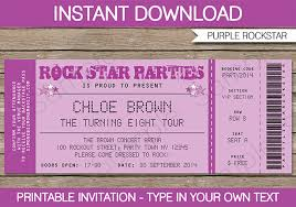 Concert Ticket Invitations Template New Rockstar Birthday Party Invitations Printable Decorations