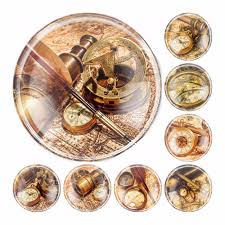 Us 2 71 19 Off Handmade 6 Size Glass Nautical Chart Compass Round Flatback Cameo Cabochon Domed Diy Jewelry Charm Photo Pendant Setting In Jewelry