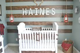 rustic nursery with wood accent wall project baby boy room ideas rustic27 boy