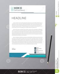 Letterhead Designs Templates Letterhead Design Template And Mockup Minimalist Style Vector D