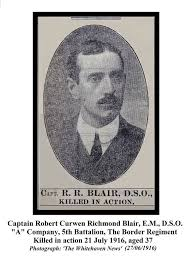 Robert Curwen R Blair | Database | Cleator Moor World War One Project