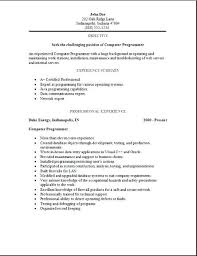 Sample Cover Letter Programmer Programmer Resume Example Programming